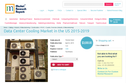 Data Center Cooling Market in the US 2015-2019'