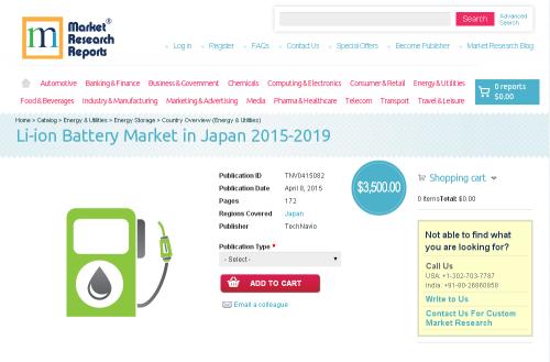 Li-ion Battery Market in Japan 2015-2019'
