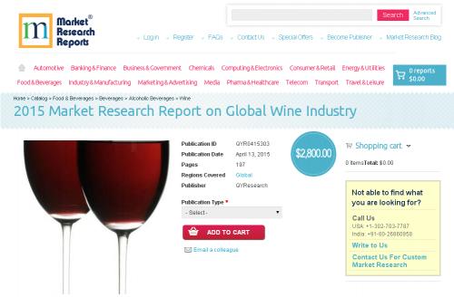 Global Wine Industry 2015 Market Report'