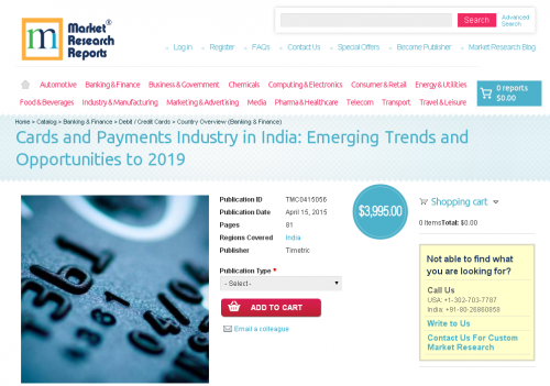Cards and Payments Industry in India'