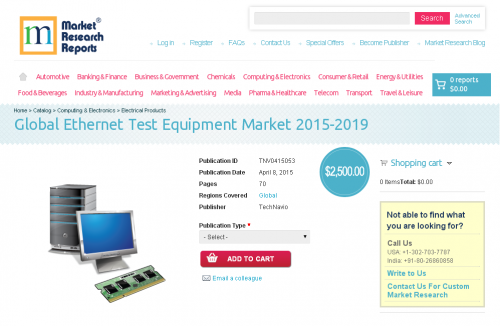 Global Ethernet Test Equipment Market 2015-2019'