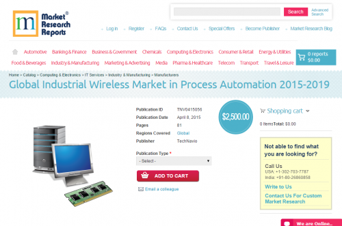 Global Industrial Wireless Market in Process Automation 2015'