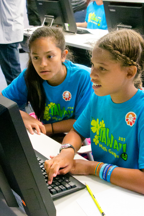 Students participating in the Hawai'i Math Games'