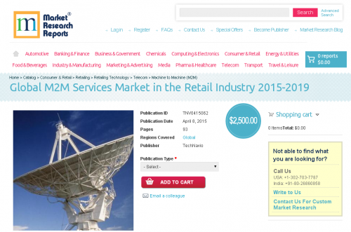 Global M2M Services Market in the Retail Industry 2015-2019'