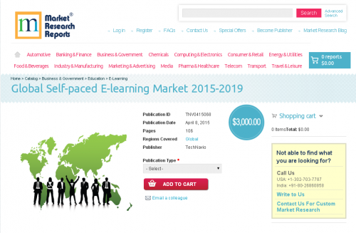 Global Self-paced E-learning Market 2015-2019'