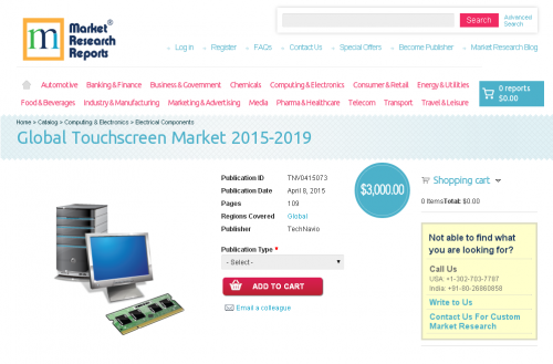 Global Touchscreen Market 2015-2019'