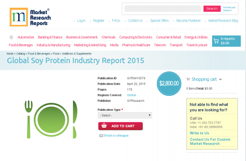Global Soy Protein Industry Report 2015'