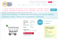 Duty Free Retailing in Middle East and Africa, 2014-2019