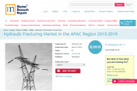 Hydraulic Fracturing Market in the APAC Region 2015 - 2019