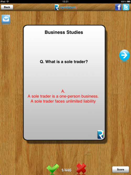 Revision App - Business Education App'