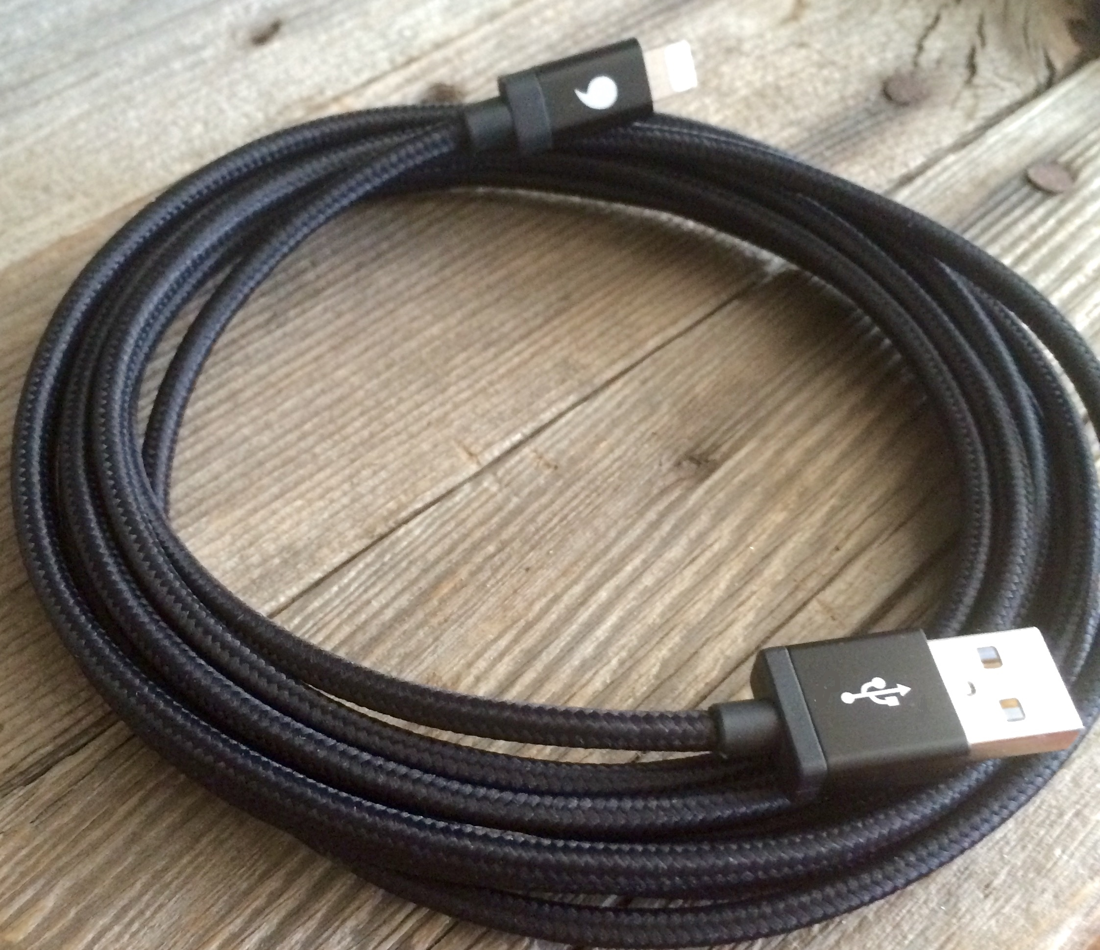 BBC: Big Black Cable 10ft Braided MFi Charger