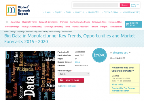 Big Data in Manufacturing: Key Trends, Opportunities'