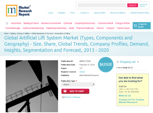 Global Artificial Lift System Market'