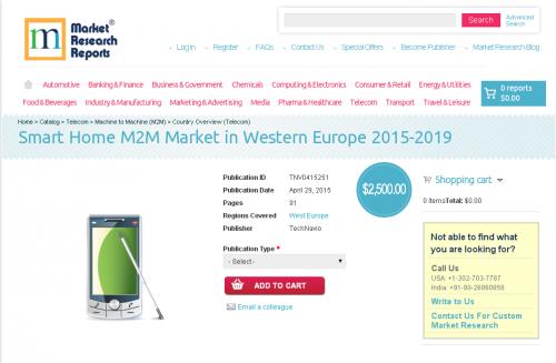 Smart Home M2M Market in Western Europe 2015-2019'