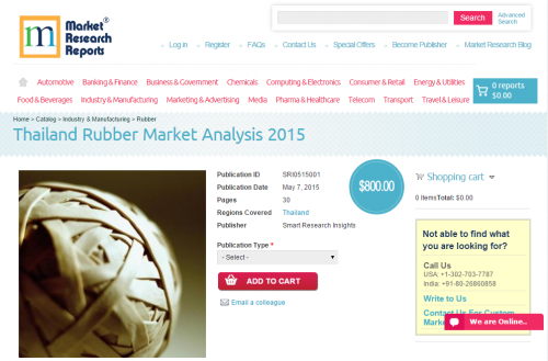 Thailand Rubber Market Analysis 2015'