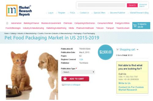 Pet Food Packaging Market in US 2015-2019'