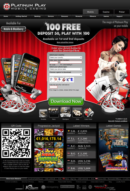 Platinum Play Mobile Casino'