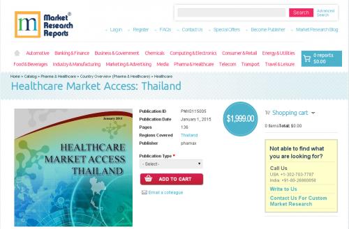Healthcare Market Access: Thailand'