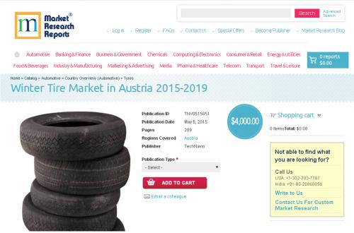 Winter Tire Market in Austria 2015-2019'