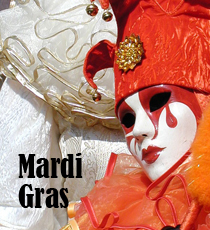 Mardi Gras mask'
