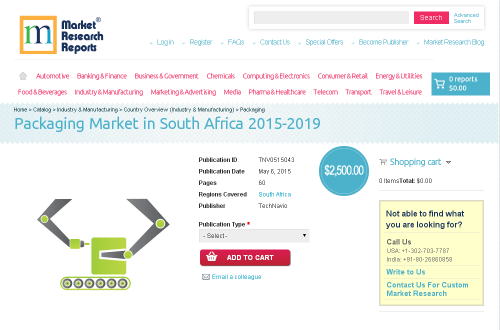 Packaging Market in South Africa 2015-2019'