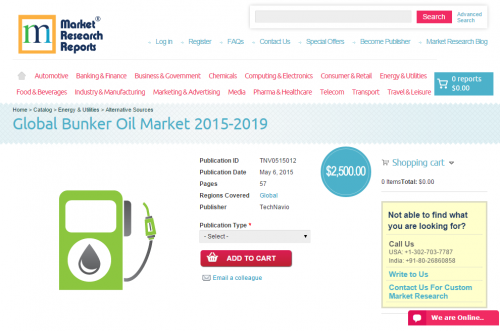 Global Bunker Oil Market 2015-2019'