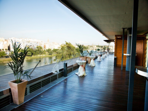 Hotel Ribera de Triana Rooftop terrace with city view'