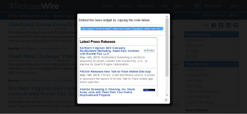 ReleaseWire for Publishers - Creating a Company News Widget