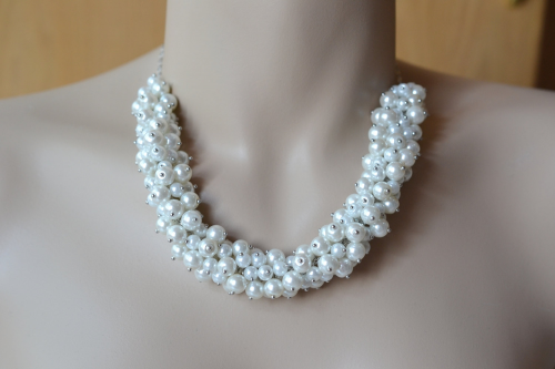 Cluster Pearl Necklace'