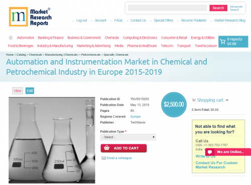 Automation and Instrumentation Market in Chemical and Petroc'
