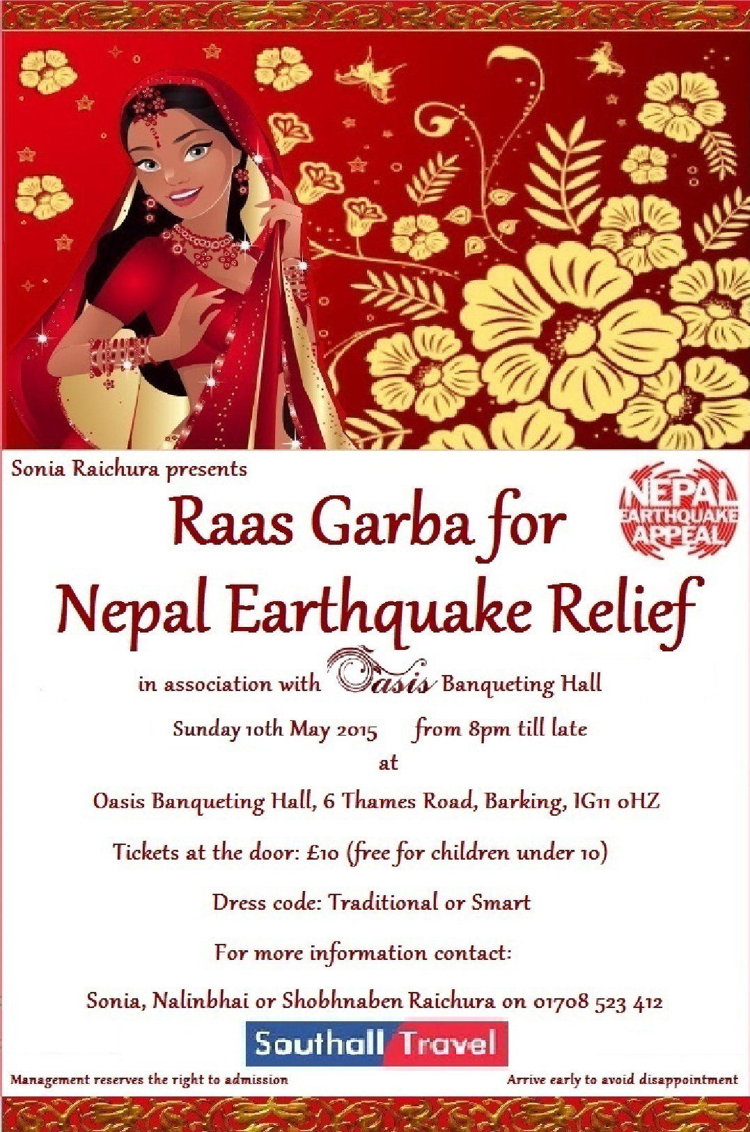 Southall Travel Sponsors Raas Garba for Nepal Earthquake Rel