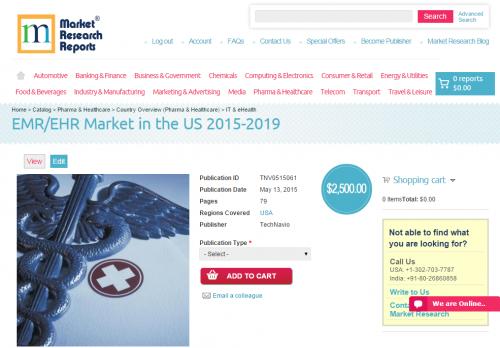 EMR/EHR Market in the US 2015 - 2019'
