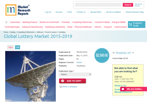 Global Lottery Market 2015 - 2019'