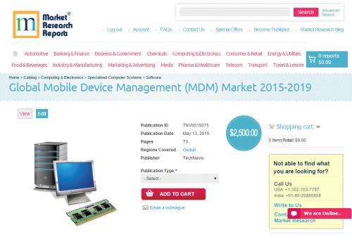 Global Mobile Device Management (MDM) Market 2015 - 2019'
