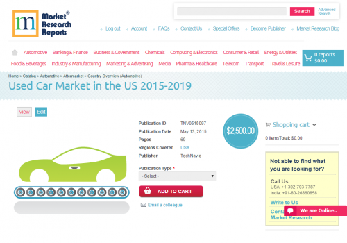 Used Car Market in the US 2015 - 2019'