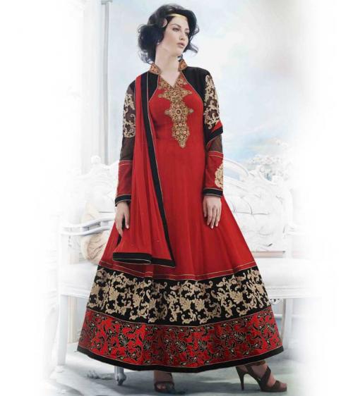 Red Trend Setter Anarkali Suit'