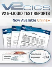 Batch Testing Report of V2 E Liquids'