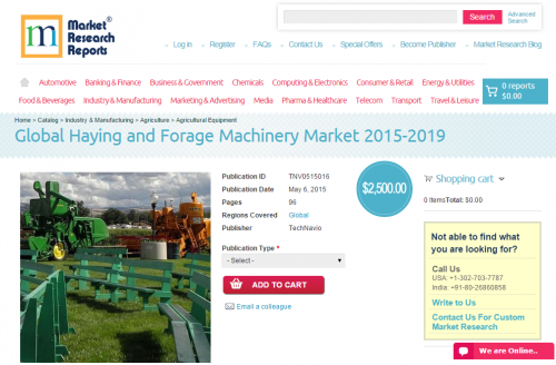 Global Haying and Forage Machinery Market 2015-2019'