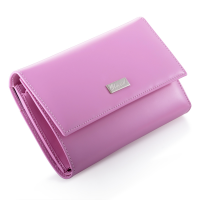 No. 4 Pink Leather Wallet by Chopard for $215
