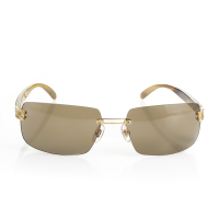 Limited Edition 18K Yellow Gold Aviator Sunglasses by Chopar