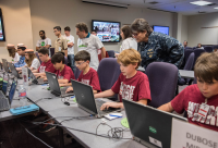 Students play at SPAWAR representing the Army in SC
