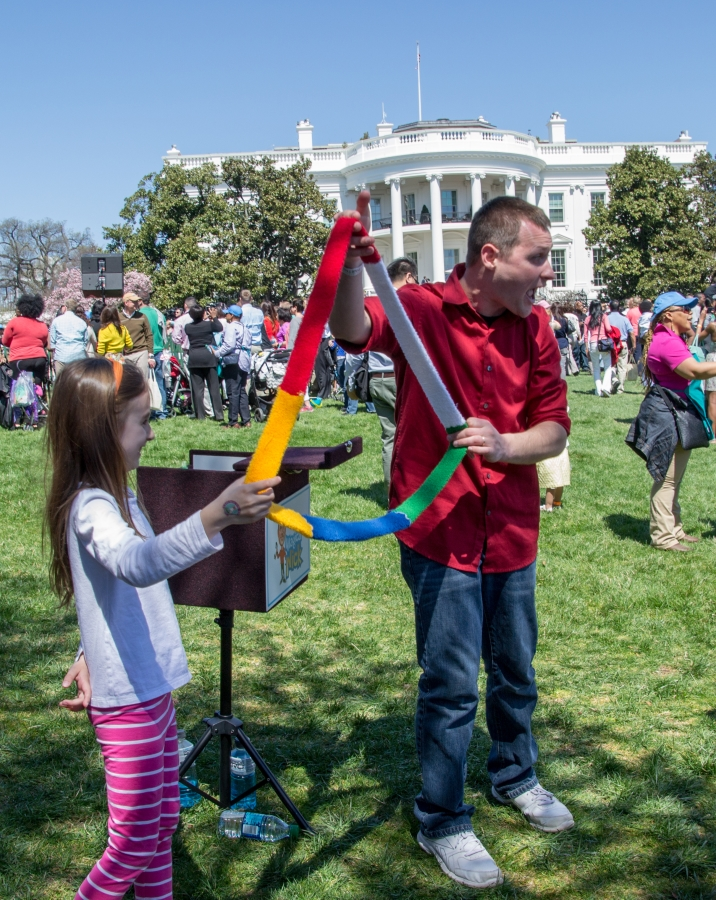 Magical Nick performing at last year's White House Egg  Roll