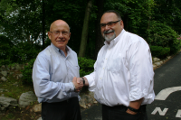 Dr. Peter Gerhardt with EPIC Principal William Schmalz