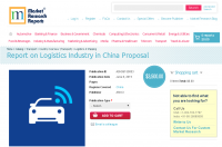 Report on Logistics Industry in China Proposal
