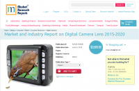 Market and Industry Report on Digital Camera Lens 2015-2020