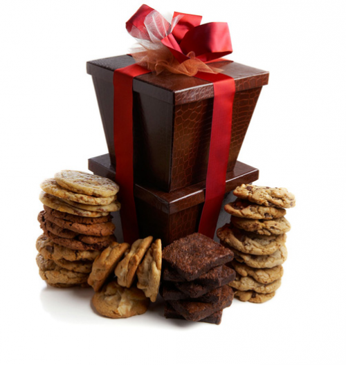 Deluxe Tower of Cookies and Brownies'