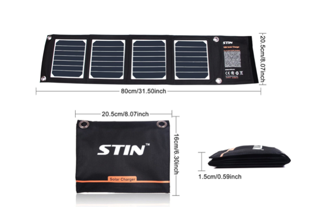 The STIN SunPower Solar Phone Charger