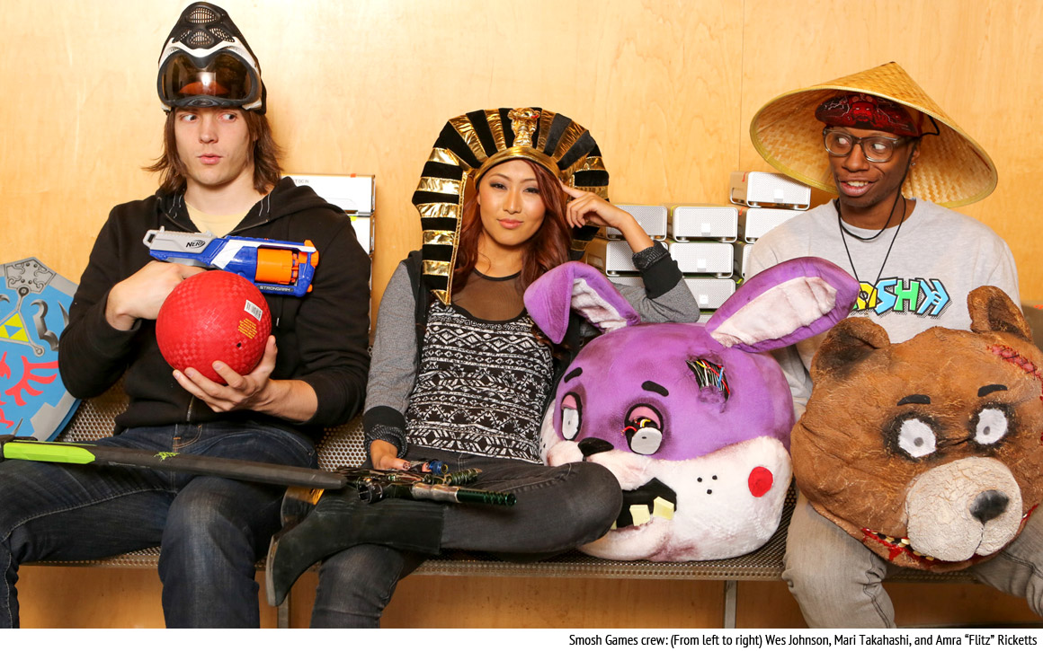 Mari Takahashi and the Smosh Crew