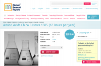 Amino Acids China E-News 1505 (12 issues per year)