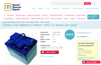 China Li-ion Battery E-News 1505 (12 issues per year)